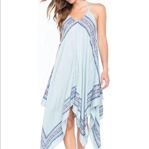 O'Neill Galaxy Print Handkerchief Hem Dress XL EUC